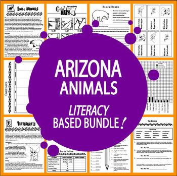 Arizona Animals (NINE Vertebrates & Invertebrates Animal Adaptation Lessons)
