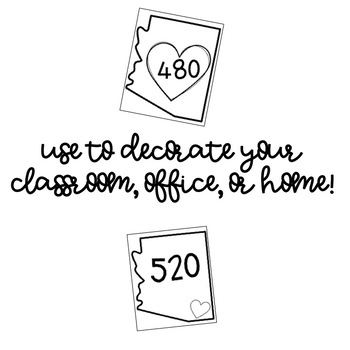 Arizona Area Code Decor Posters