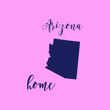 Arizona Clipart, USA State Vector Clipart, Arizona Home, Gold US Clipart