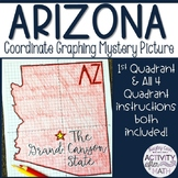 Arizona Coordinate Graphing Mystery Picture 1st Quadrant &