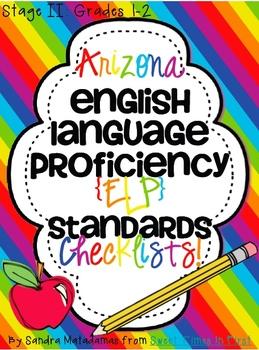 Arizona English Language Proficiency Standards Checklists Bundle