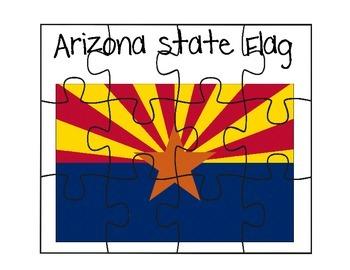 Arizona Flag Puzzle