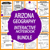 Arizona Geography – 8 Mapping Lessons, 11 Mapping Activities + Travel Brochure