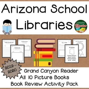 Arizona Grand Canyon Reader 2019 - 2020 Book Review Activity Pack