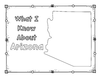 Arizona Graphic Organizers (Perfect for KWL charts and geography!)