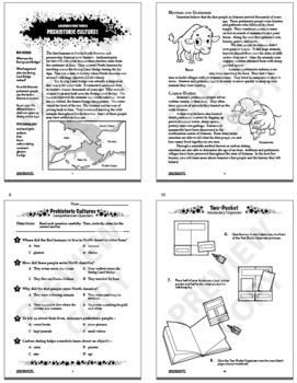 Arizona History Interactive Notebook Unit–Arizona's Native Americans–3rd Grade