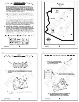 Arizona History–Interactive Notebook Arizona State Study Unit + AUDIO!