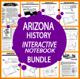 Arizona History State Study Interactive Notebook Bundle – 21 Lessons – 3rd Grade