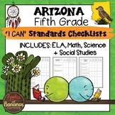 Arizona I Can Standards Checklists Fifth Grade