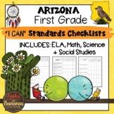 Arizona I Can Standards Checklists First Grade