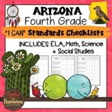 Arizona I Can Standards Checklists Fourth Grade