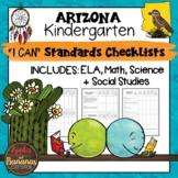 Arizona I Can Standards Checklists Kindergarten