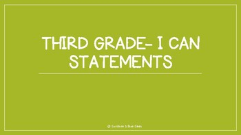 Arizona I Can Statements (Lime Green)