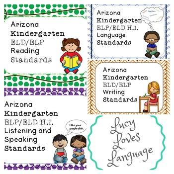 Arizona Kindergarten ELP/ELD BUNDLE