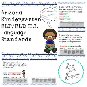 Arizona Kindergarten ELP/ELD Language Standards