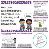Arizona Kindergarten ELP/ELD Listening and Speaking Standards