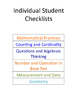 Common Core Kindergarten Math Checklists