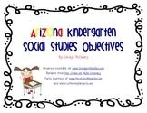 Arizona Kindergarten Social Studies Objectives
