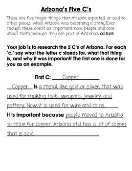 Arizona Leveled Texts and Five C's Research