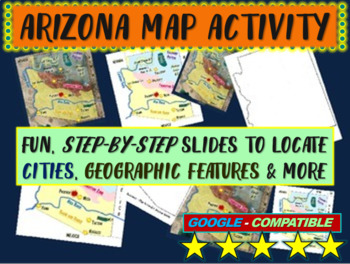 Arizona Map Activity- fun, engaging, follow-along 18-slide PPT