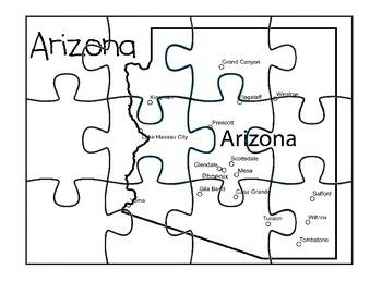 Arizona Map Puzzle