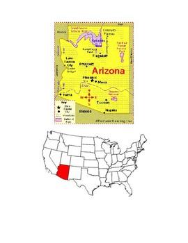 Arizona Map Scavenger Hunt