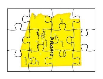Arizona Puzzle Map Activity