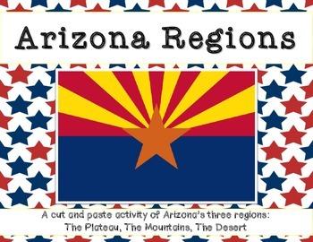 Arizona Regions: A cut and paste activity