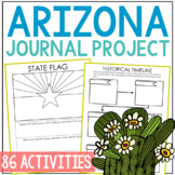 ARIZONA History Project, Differentiated State Research Journal {EDITABLE}