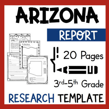 Arizona State Research Report Project Template with bonus