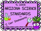 Arizona Science Standards - 4th Grade