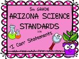 Arizona Science Standards - 5th Grade