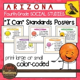 """Arizona Social Studies - """"I Can"""" Fourth Grade Standards Posters"""