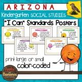 """Arizona Social Studies - """"I Can"""" Kindergarten Standards Posters"""
