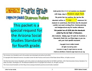 Arizona Social Studies Standards Posters--4th grade