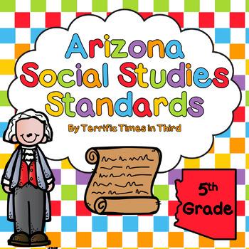 Arizona Social Studies Standards for 5th Grade