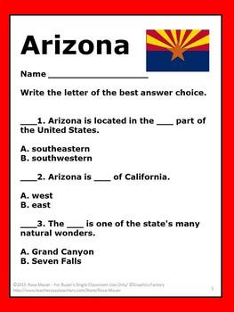 Arizona State Studies Activity