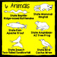 Arizona State Animal Number 1-5 Scissor Trace Stamp - An A