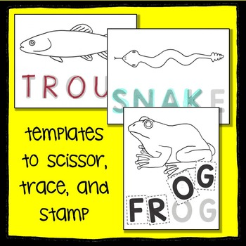 Arizona State Animal Scissor, Trace, Stamp - An Animal Literacy Center