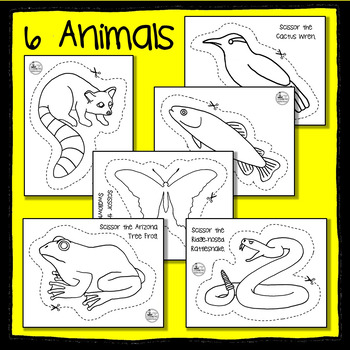 Arizona State Animal Scissoring Sheets - An Animal Literacy Center