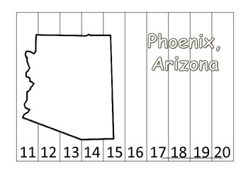 Arizona State Capitol Number Sequence Puzzle 11-20.  Geogr