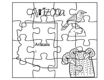 Arizona State Fact Puzzle Set