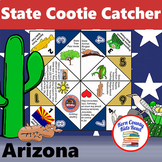 Arizona State Facts and Symbols Cootie Catcher Distance Le