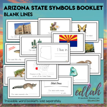 Arizona State Symbols Booklet- Blank Lines