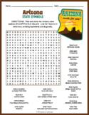 ARIZONA State Symbols Word Search Puzzle Worksheet Activity