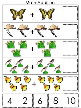 Arizona State Symbols themed Math Addition Game. Preschool Game