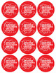 Arizona Teachers United #RedForEd Buttons Digital Sheet
