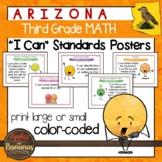 "Arizona Third Grade MATH ""I Can"" Classroom Standards Posters"