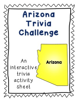 Arizona Trivia Toss-Up Activity - State Trivia