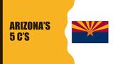 EDITABLE Arizona's 5 Cs - state flag - state seal